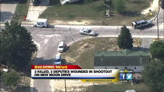 Vụ xả súng làm 3 người thiệt mạng và 3 người khác bị thương. Ảnh: AP