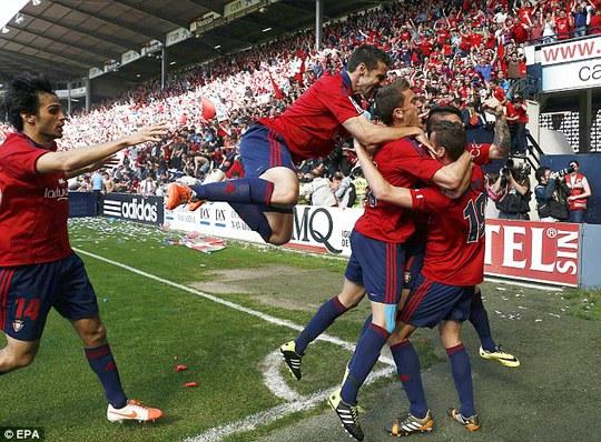 Dù chiến thắng nhưng Osasuna phải ngậm ngùi chia tay La Liga