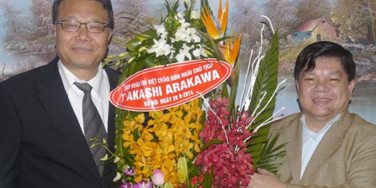 Ông Trí đón 2 đối tác Hàn Quốc và Nhật Bản tại Hà Nội.