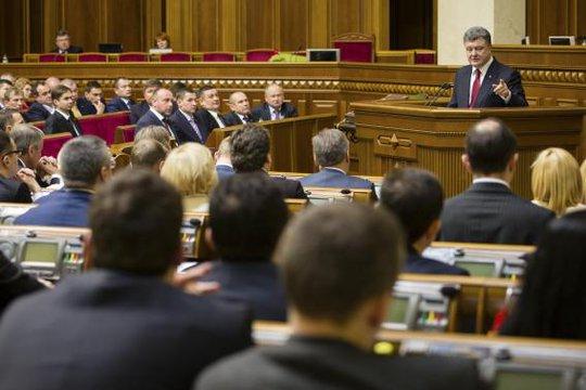 Ông Petro Poroshenko cam kết sẽ phấn đấu trở thành thành viên NATO. Ảnh: Reuters