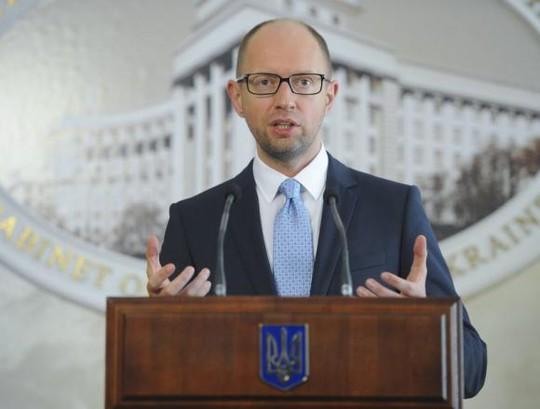 Thủ tướng Ukraine Arseniy Yatsenyuk. Ảnh: Reuters