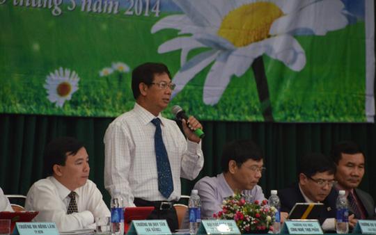 TS Nguyễn Đức Nghĩa, Phó Giám đốc ĐHQG TP HCM nêu những điểm mới thí sinh cần lưu ý