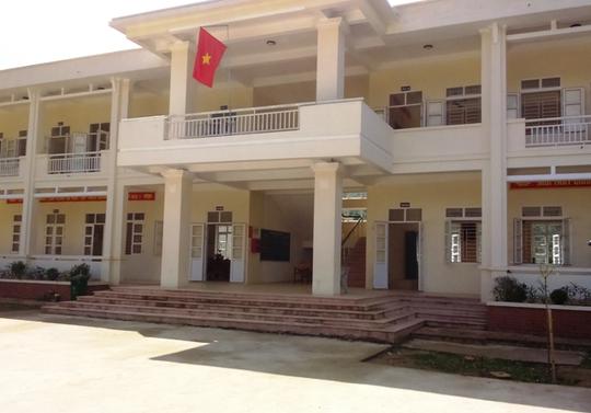 Ngôi trường nơi thầy Nguyễn Đình Ân đang công tác