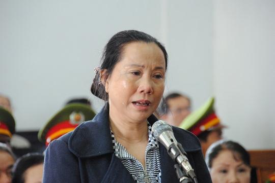 Bị cáo Trần Thị Xuân tại phiên tòa