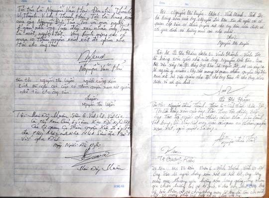 Người dân ký đơn xin giảm tội cho ông Tân