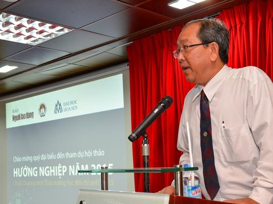 Ông Lưu Đức Tiến, Phó Trưởng phòng Giáo dục chuyên nghiệp và Đại học – Sở GD-ĐT TP HCM