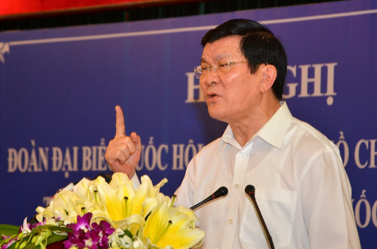 Chủ tịch nước Trương Tấn Sang: Chúng ta không lệ thuộc vào bất cứ ai