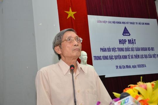 Chuẩn đô đốc Lê Kế Lâm, Chủ tịch Hội Khoa học - Kỹ thuật và Kinh tế Biển TP HCM khẳng định: Chúng ta kiềm chế nhưng chúng ta không sợ
