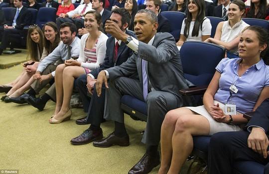 Ông Obama xem trận Bỉ - Mỹ
