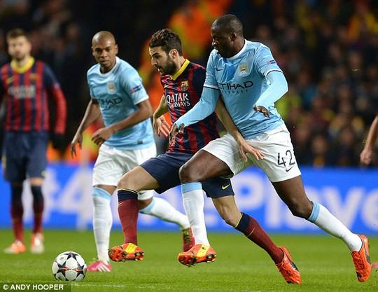 Tiền vệ người Tây Ban Nha góp phần không trong chiến thắng của Barcelona trước Man City