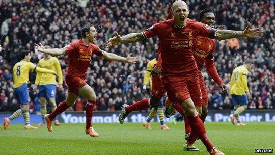 Trận đấu giữa Liverpool và Arsenal hôm 8-2