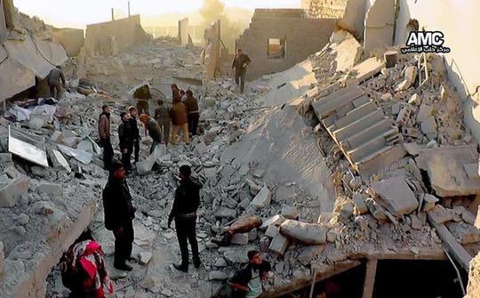 Chiến tranh tàn phá Syria. Ảnh: AP