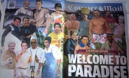 Trang bìa sinh động của Courier Mail. Ảnh: FOTO REPRO