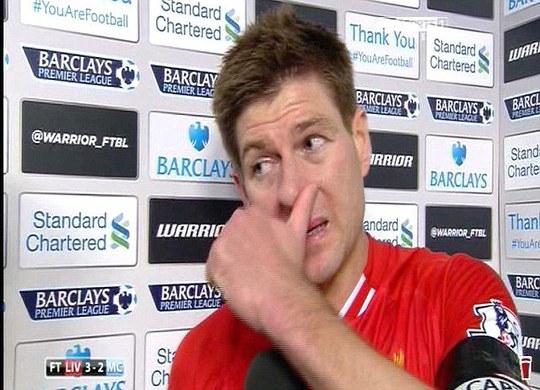 Gerrard vẫn còn xúc động trong cuộc họp báo