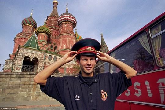 Giggs tại Nga năm 1992 trong một chuyến làm khách của Torpedo Moscow ở UEFA Cup