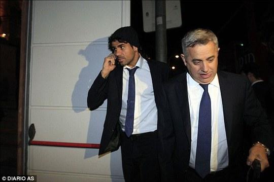 Costa được bắt gặp ở Serbia hôm qua