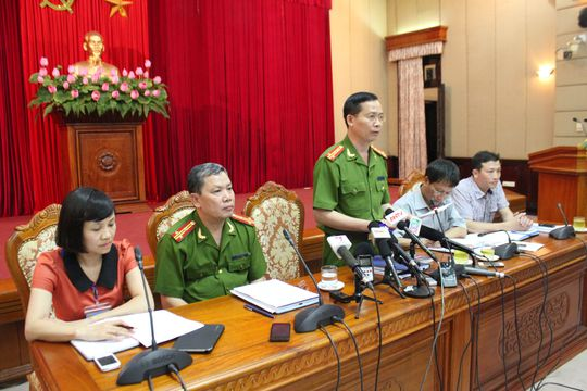 Đại tá Dương Văn Giáp báo cáo vụ việc nghe lén