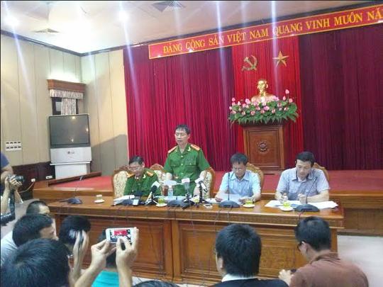 Đại tá Dương Văn Giáp thông báo vụ án