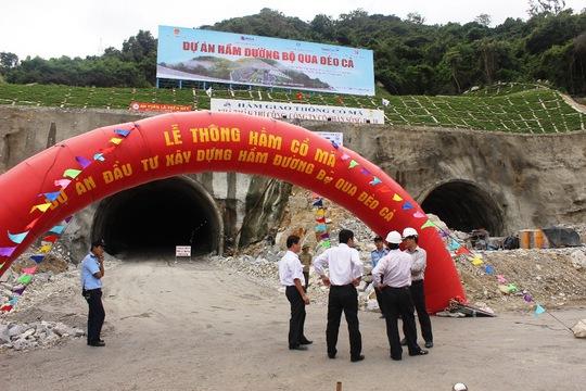 Hầm Cổ Mã đã được thông hầm kỹ thuật