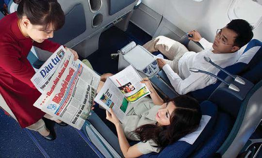 Hành khách hạng thương gia của Vietnam Airlines.