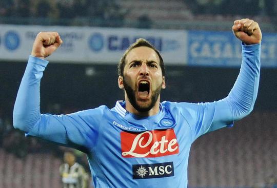 Tiền đạo Higuain của Napoli