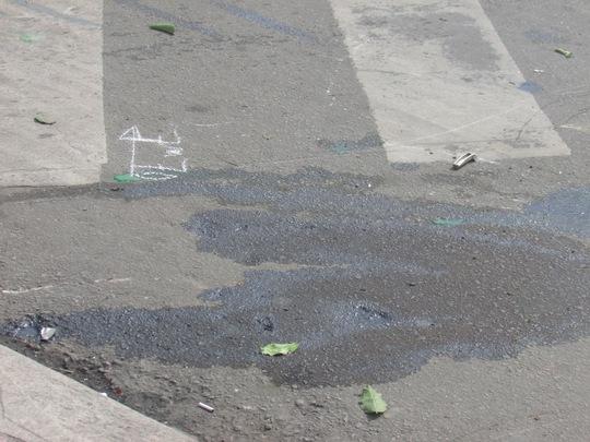 Nơi xảy ra va chạm giao thông khiến thanh niên người nước ngoài chết tại chỗ vào sáng 21-9.