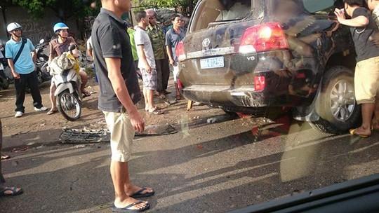 Chiếc xe bị tai nạn- ảnh CTV
