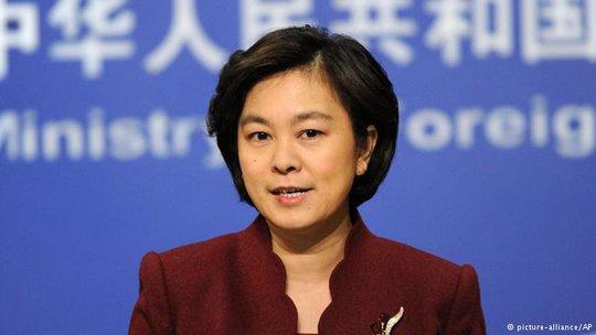 Phát ngôn viên Bộ Ngoại giao Trung Quốc Hoa Xuân Oánh. Ảnh: AP