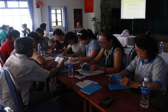 Cán bộ Công đoàn Công ty Sanofi - Aventis tại lớp tập huấn