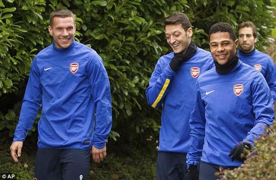 Các cầu thủ Arsenal đang có tâm lý rất tốt