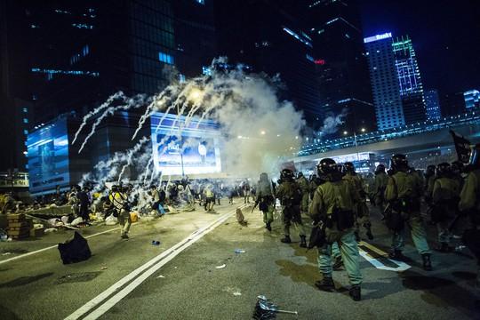 Cuộc biểu tình đã ảnh hưởng lớn đến thị trường tài chính Hồng Kông trong ngày 29-9.