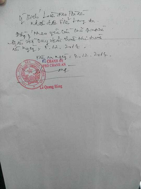 Bút phê hoãn thi hành án tử đối với tử tù Hồ Duy Hải