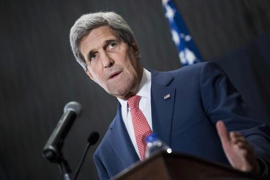 Ngoại trưởng Mỹ John Kerry tái khẳng định Washington sẽ không hợp tác với Damascus chống lại IS. Ảnh: AP
