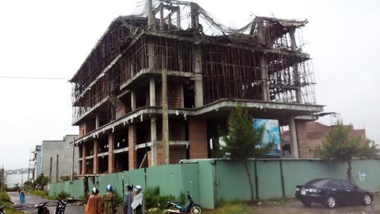 Công trình khách sạn Tân Khải Hoàn nơi xảy ra vụ việc.