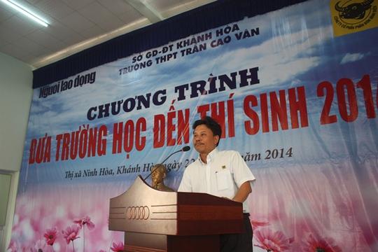 Ông Phạm Ngọc Tuấn - đại diện đơn vị tài trợ Công ty CP Phân bón Bình Điền