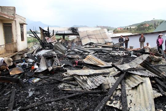 Vụ cháy thiêu rụi ngôi nhà trong phút chốc