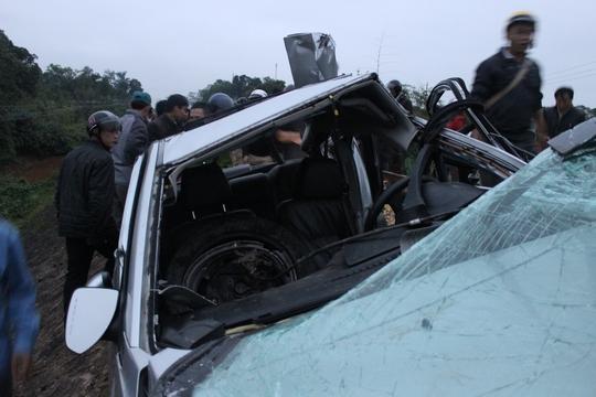 Chiếc ô tô sau khi bị tai nạn