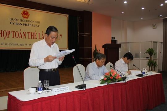 Bộ trưởng Bộ Nội vụ Nguyến Thái Bình đề nghị giao tòa án địa phương cho Chính phủ quản lý
