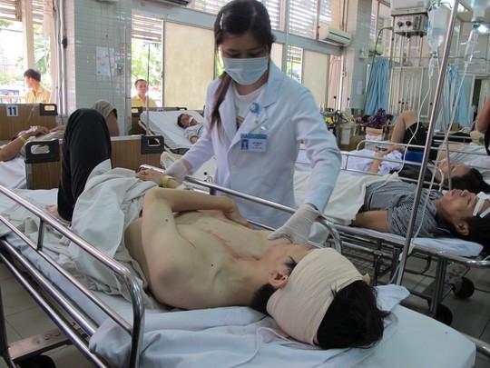 Một thanh niên bị chấn thương đầu