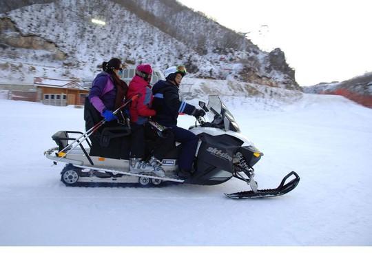Snowmobile at North Korean Ski Resort