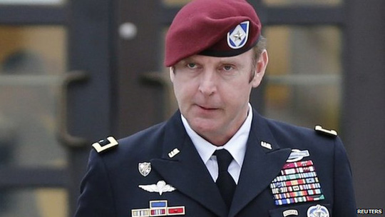 US Army Brigadier General Jeffrey Sinclair leaves the courthouse at Ft Bragg in Fayetteville, North Carolina 4 March 2014