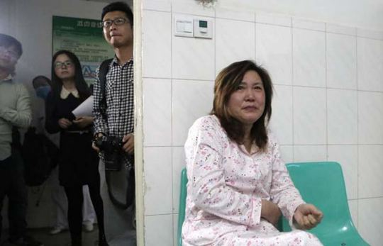 Grandma Lu Yuanxiu, 57, was the first person doctors approached to say they would have to make the decision