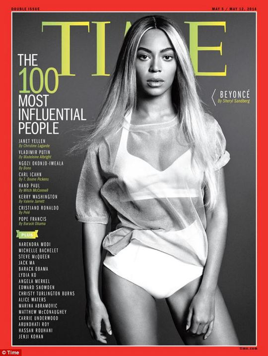 Pop queen: Time magazine features Beyonce on the cover of its 100 Most Influential People, out Friday