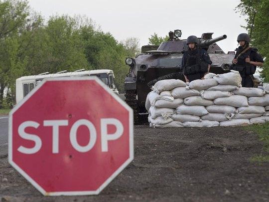 Славянск, 1 мая 2014 года