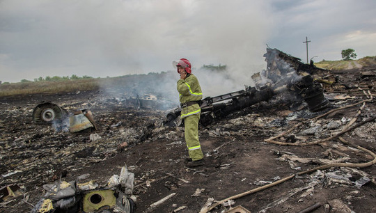 Malaysia Airlines Boeing-777 crash site