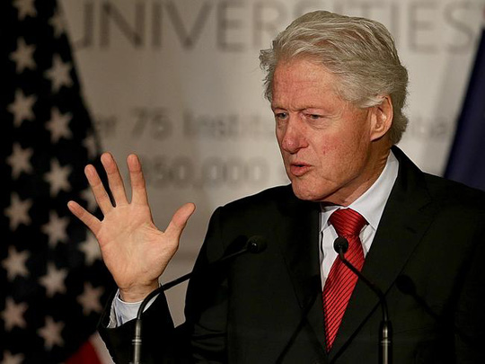 Forgotten comments ... audio made public this week revealed former US president Bill Clin