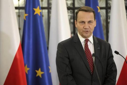 Former Polish foreign minister Radoslaw Sikorski speaks at the lower house of the Polish parliament in Warsaw, September 24, 2014. REUTERS/Slawomir Kaminski/Agencja Gazeta