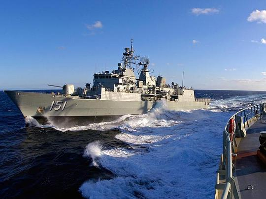 Bears a flight deck for helicopters ... Replenish ship HMAS Sirius is the third Royal Aus