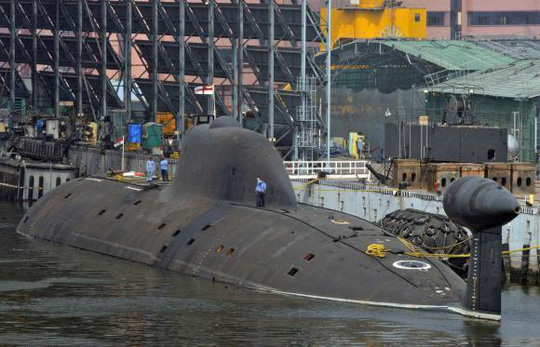 Indian Navys INS Arihant submarine is pictured at the naval warehouse in the southern Indian city of Visakhapatnam November 18, 2014. REUTERS/R Narendra
