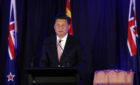 Chinas President Xi Jinping attends a news conference in Wellington, November 20, 2014.REUTERS/Anthony Phelps